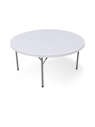 Table PEHD ronde - pliante