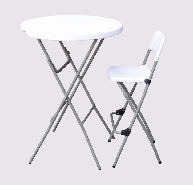 Tables et chaises pehd table et chaise bar pliantes pehd for Table bar et chaise haute