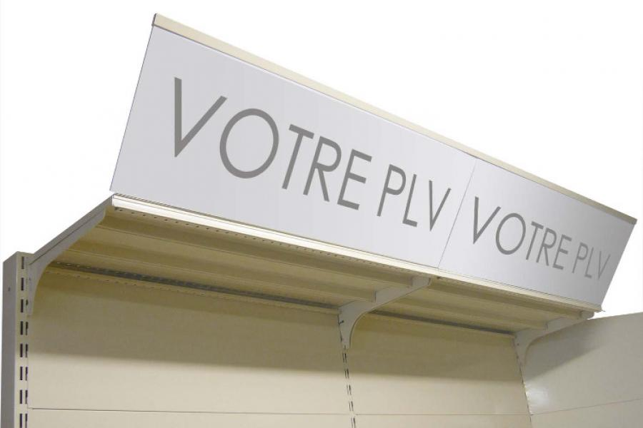 PLV inclinée